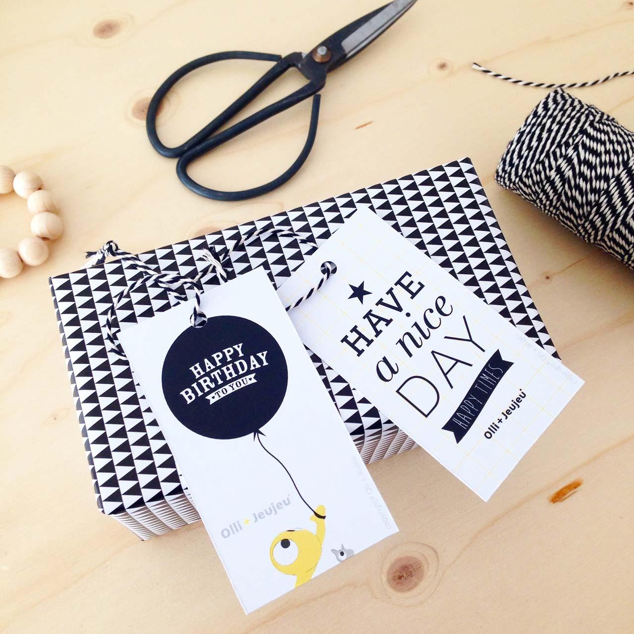 Versier je cadeautjes met deze stijlvolle labels