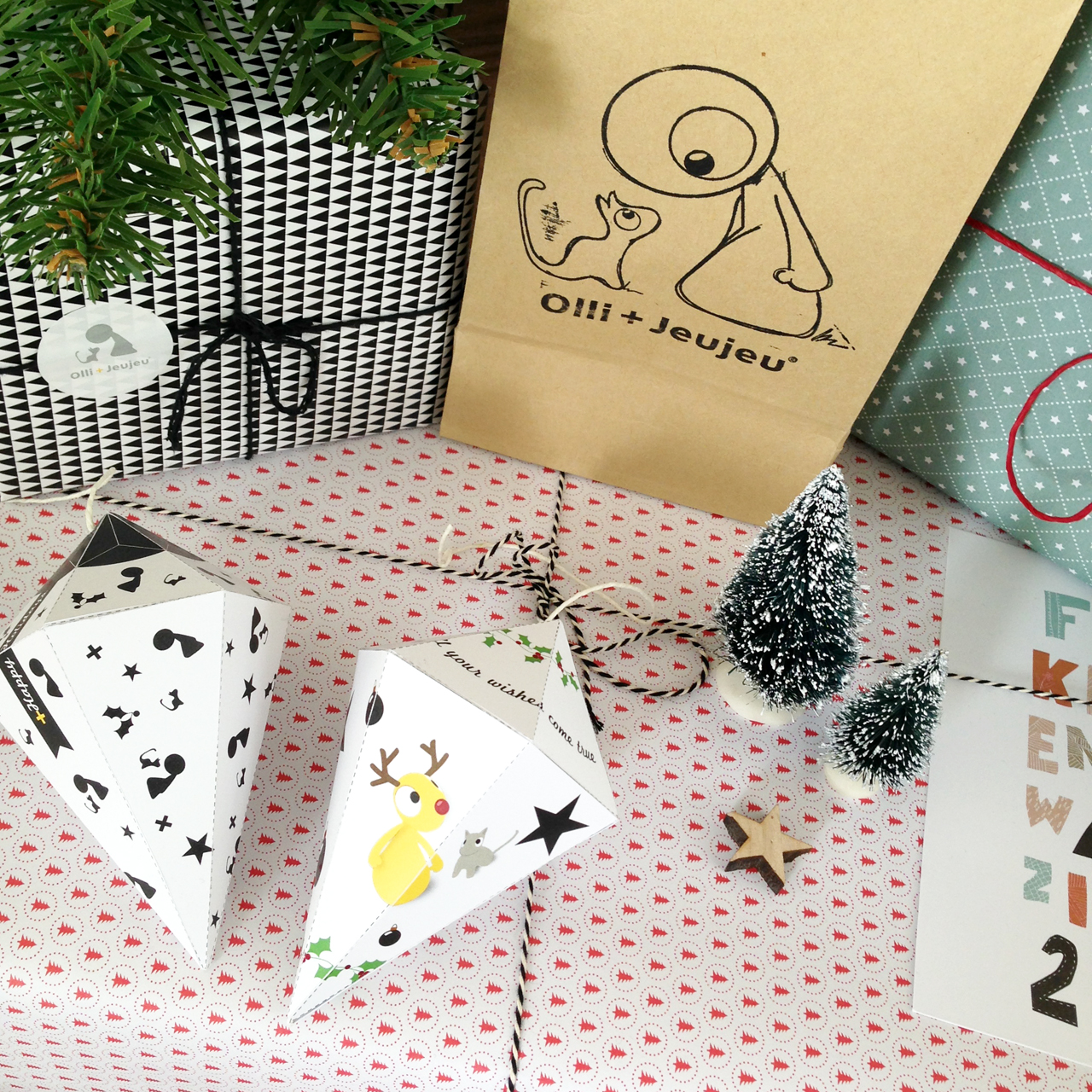Happy Ollidays! Download je DIY kerstdiamant