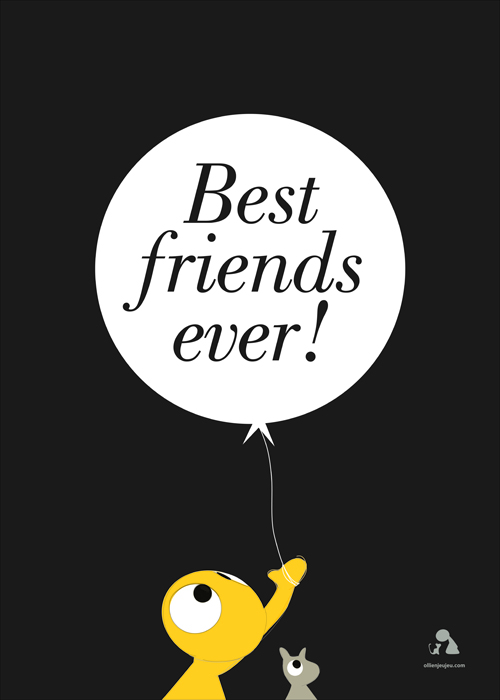 Poster 'best friends ever'