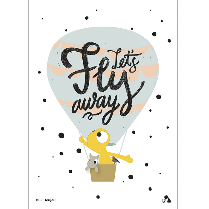 Poster 'Let's fly away'